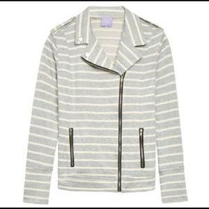 Market & Spruce Elissa Striped Moto Jacket